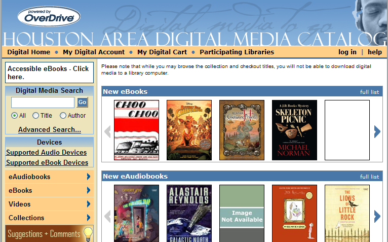 Houston Area Digital Media Catalog