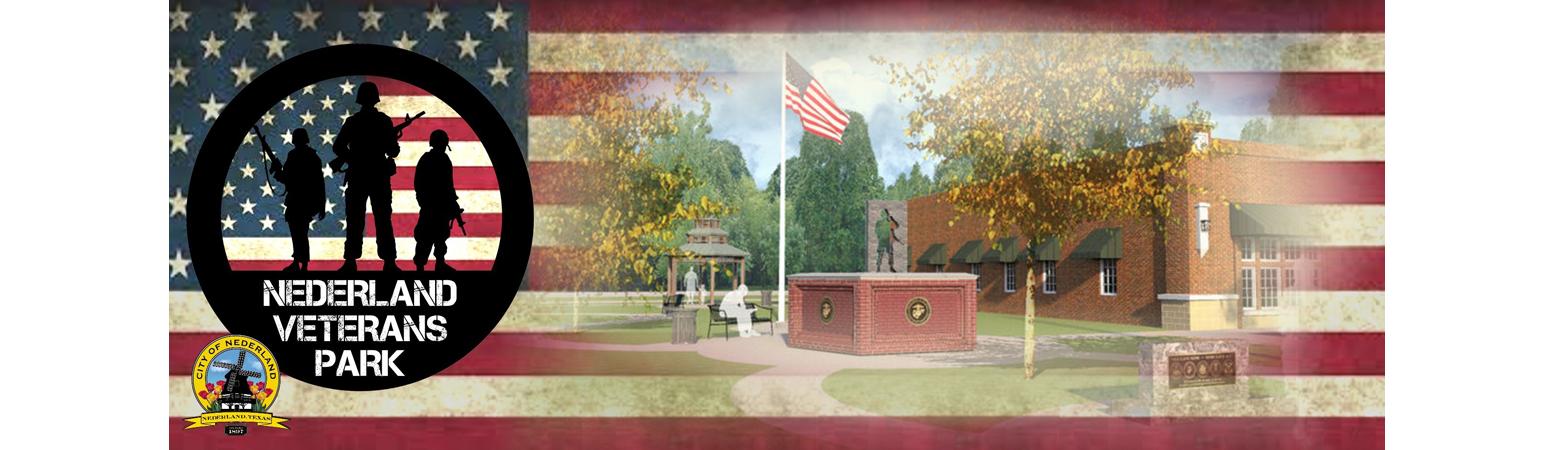 Nederland Veterans Park banner