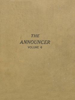 Announcer, 1934 v. 6