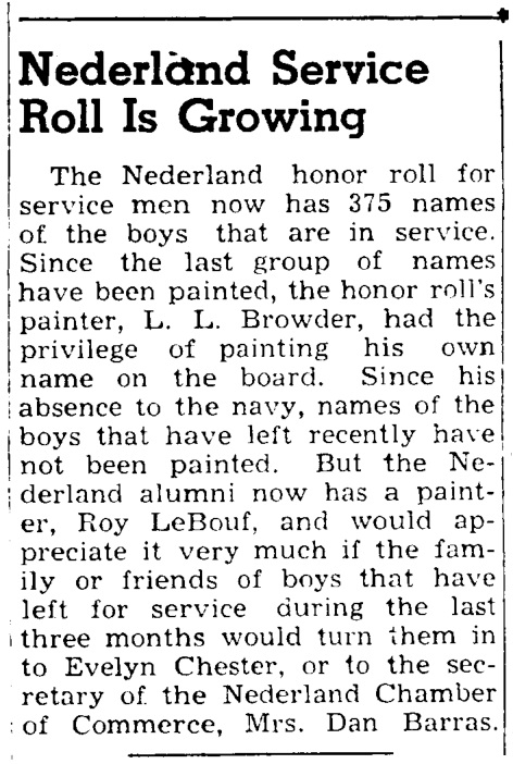 Nederland Honor Roll article 5